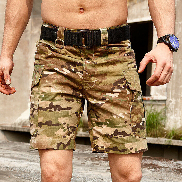 Men's Military Outdoor Camouflage Cargo Shorts Tactical City Combat Casual Pants