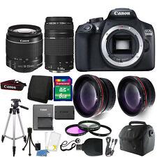 Canon EOS 1300D/T6 18MP DSLR Camera + 18-55mm + 75-300mm Lens + Accessory Kit