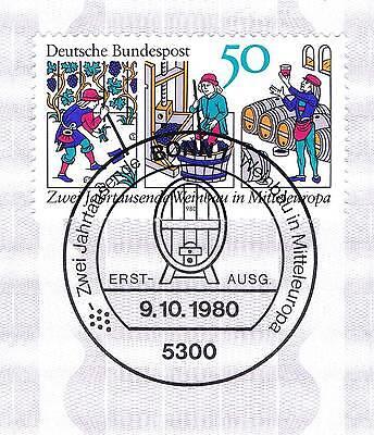 Herzhaft Brd 1980: Weinbau Nr. 1063 Mit Dem Bonner Ersttags-sonderstempel! 1a! 154