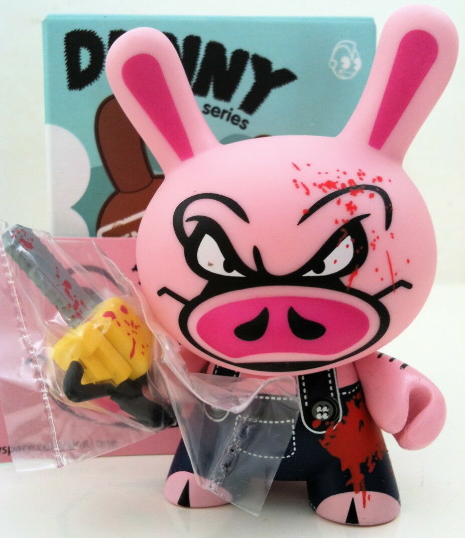 DUNNY 3  ENDANGERED SERIES SKET ONE BLOODY CHAINSAW PIG 2 20 KIDROBOT TOY FIGURE