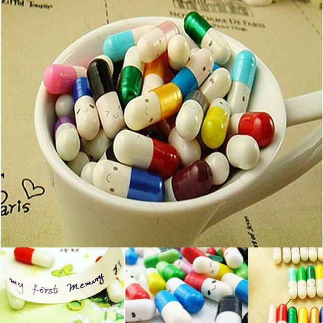 Message in a Bottle Message #E Capsule Letter Cute Love Half Color Pill 50Pcs