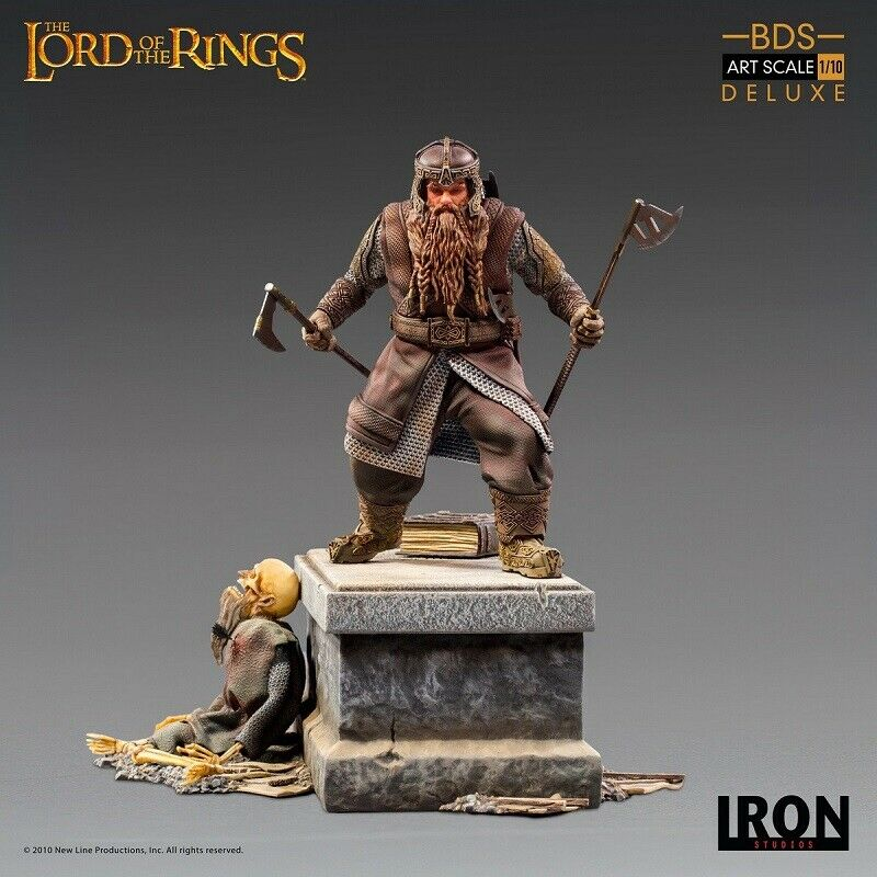 Iron Studios The Lord of the Rings Gimli Deluxe Limited 1/10 Figure New Hot Toy  on eBay thumbnail
