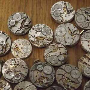 Steampunk-Watch-Movement-Parts-Gears-Cogs-Wheels-Assorted-Lot-Industrial-Art-V