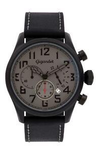 Gigandet Interceptor Herrenuhr Chronograph Datum Edelstahl Schwarz/Grau G4-006