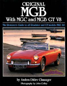 original mgb restoration book clausager manual guide mgbgt mgc gt v8 rh ebay com 1975 MGB mgb restoration manual lindsay porter