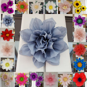 Pompom Tissue Paper Flower 19cm Wedding Venue Decorations Babyshower