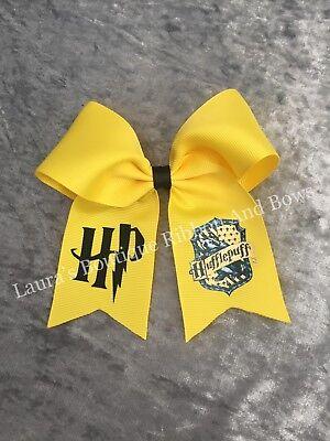 Handmade Harry Potter Hufflepuff Black Hair Bow
