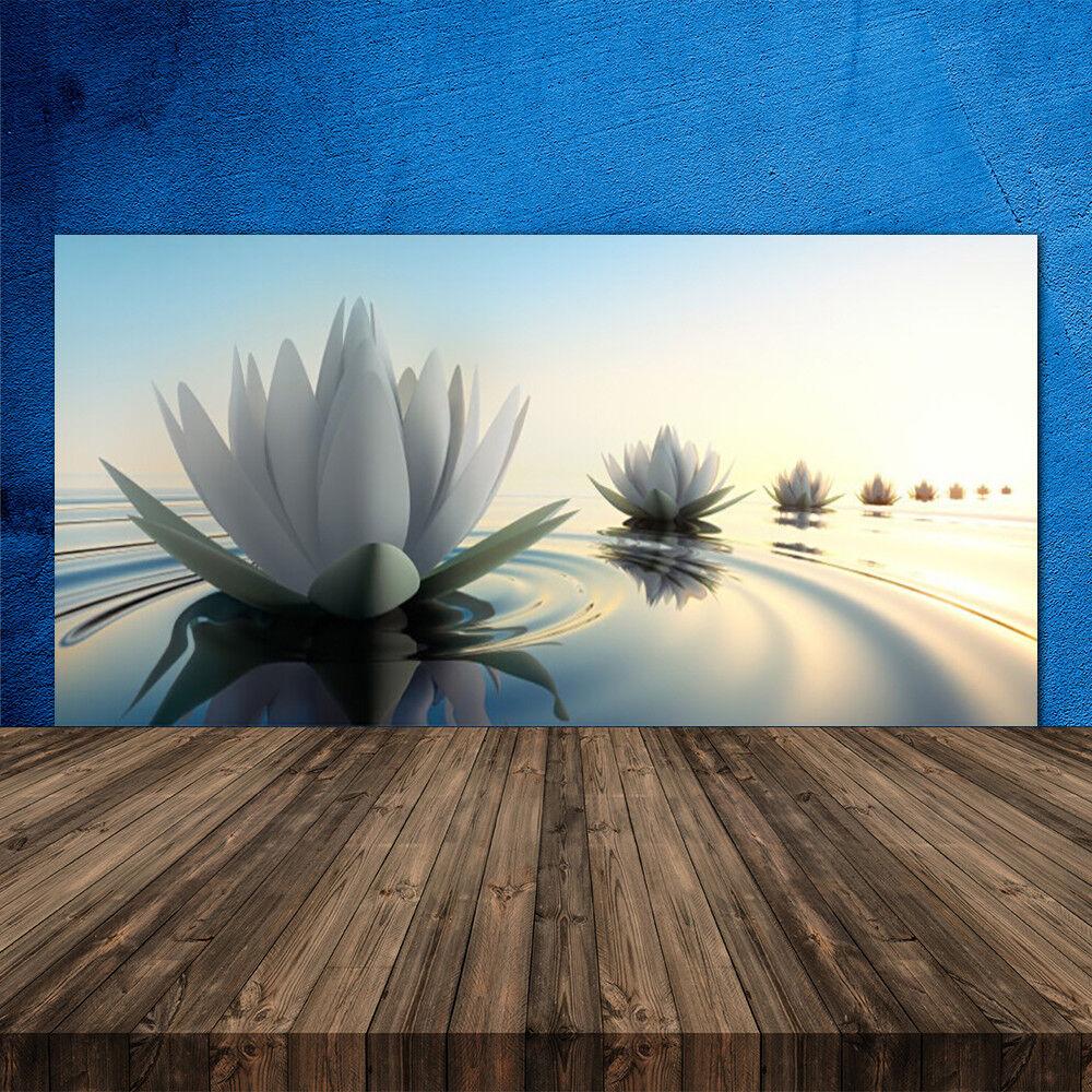 Crédence de cuisine en verre Panneau 120x60 Art Eau Fleur