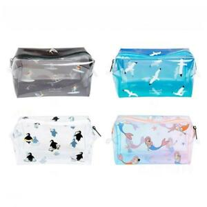 Clear Transparent PVC Travel Makeup Bag Cosmetic Toiletry Zip Bag Pouch FW