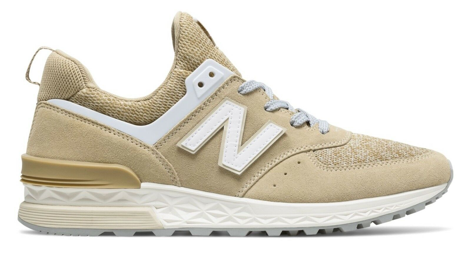 New Balance Men's 574 Sport   Beige White   10.5