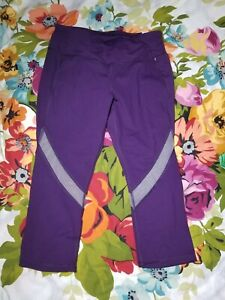 Details about NWT Calia Energize Collection Mid Rise Crop Legging Size Small Purple