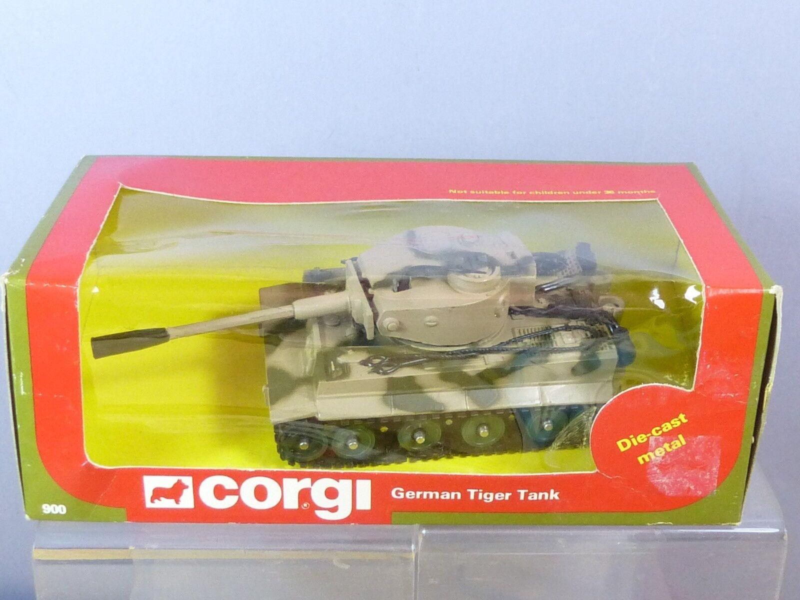 CORGI TOYS MODEL  No.900 PzKpfw TIGER Mk1 TANK  FINAL BOX VERSION      MIB