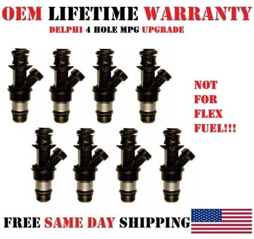 Reman 4hole MPG upgrade 8x OEM Delphi fuel injectors for Chevy Express 1500 5.3L
