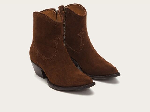 New in Box FRYE Women's Sacha Short Suede Boot, Brown 6.5 M US MSRP   328