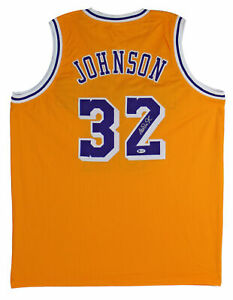 Lakers-Magic-Johnson-Authentic-Signed-Yellow-Jersey-Autographed-BAS-Witnessed-2