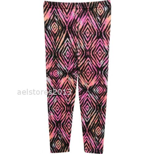 Les Filles de Camouflage à motifs géométriques Drapeau Imprimer Leggings Âge 7-13 Ans Rose Noir Gris