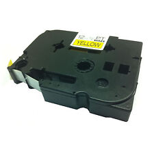 Brother Compatible TZ631 For P-Touch PT1005F PT1010 12mm Black on Yellow Tape