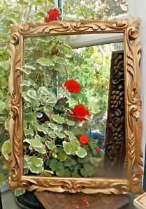 Vintage-Rococco-Style-Gilded-Carved-Beech-Wood-Picture-Frame-Handmade-in-India