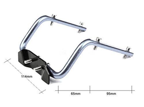 Système-S Vélo Selle Double potable Bouteilles Support Dispositif couleur argent