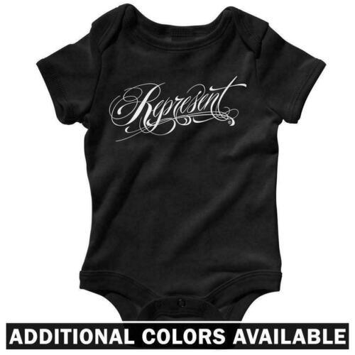 Streetwear Hip-Hop Rap Baby Infant Creeper Romper NB-24M Represent One Piece