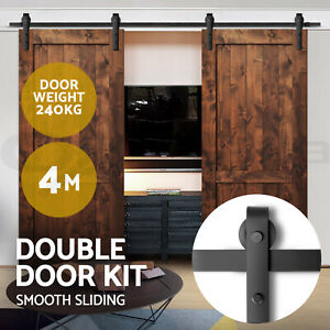 4M-Sliding-Barn-Door-Hardware-Track-Set-Home-Office-Bedroom-Interior-Closet