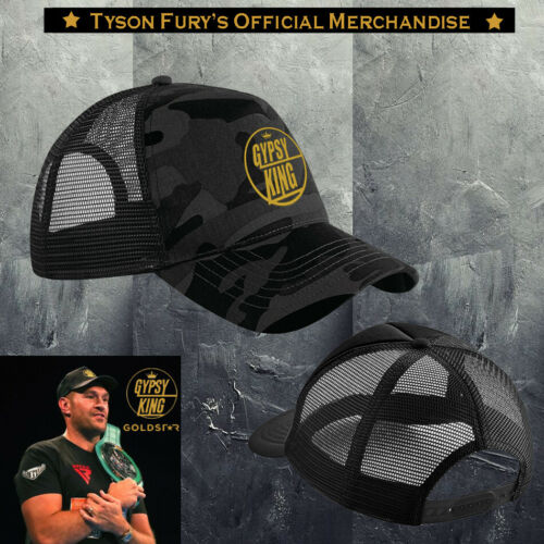 Exclusive Tyson Fury Gypsy King Noir Camo or /& Original Logo brodé Cap.