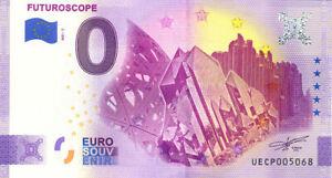 86 FUTUROSCOPE Les 3 pavillons 2, 2021, Billet Euro Souvenir