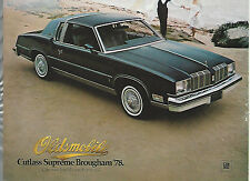 1978 OLDSMOBILE CUTLASS advertisement, Olds Cutlass Supreme Brougham ad