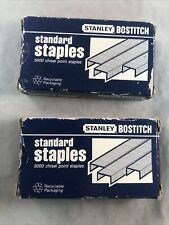 2 Boxes Stanley Bostich Sbs1914cp 5000 Pack Chisel Point Standard Staples Open