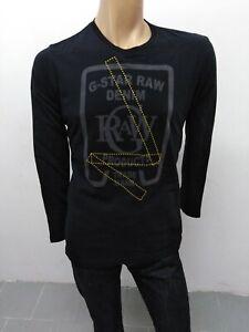 Maglia-G-STAR-size-taglia-XXL-uomo-man-polo-shirt-cotone-elastica-nera-P-5434