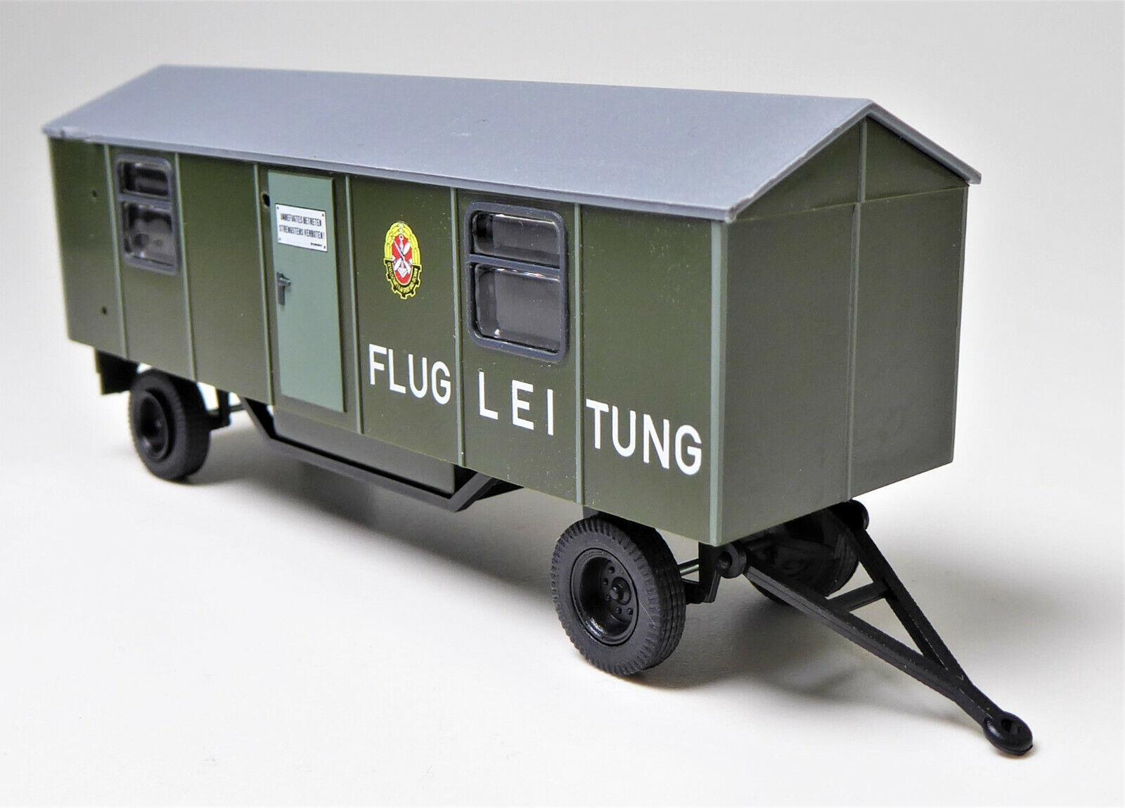 H0 Bauwagen Baustellenanhänger A 8 Flugleitung Gesellschaft Sport Technik GST