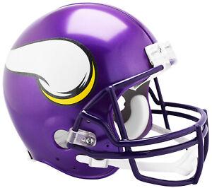 a8eeafa6 Details about MINNESOTA VIKINGS (2006-2012 THROWBCK) Riddell Full-Size VSR4  Authentic Helmet