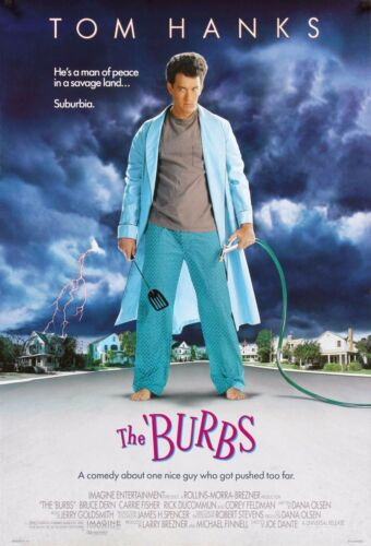 THE BURBS Movie Silk Fabric Poster Tom Hanks Horror Comedy Cult Classic