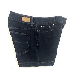 Vtg-Tommy-Hilfiger-Women-Size-10-Jeans-Denim-Shorts-Retro-Hip-Hop-FLAG-Logo