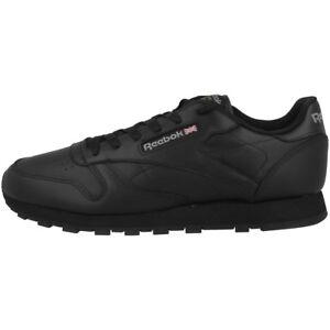 Classic Zapatos Piel Deporte Dama Ocio Reebok 3912 De Negro Zapatillas OHqwqdE