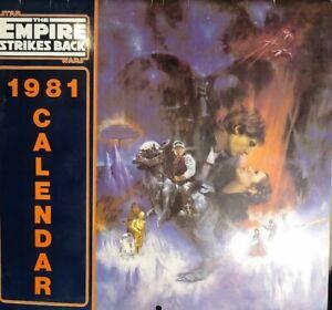 VTG-Star-Wars-The-Empire-Strikes-Back-1981-Calendar-Very-Rare
