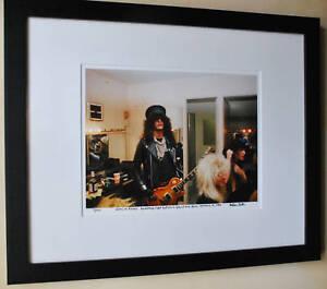 Guns-N-039-Roses-Slash-Rare-backstage-at-the-Roxy-fine-art-photo-1986-signed-9-100