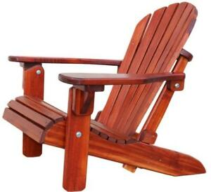 Canadian Handmade Weather Resistant Cedar Wood Folding Patio Adirondack Muskok Deck Lawn Firefit Chairs - FREE SHIPPING Canada Preview