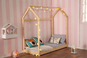 size 40 82484 c25c6 Details about Twin Size Bedroom Furniture Premium Wood Children House Bed  Frame Tent Bed