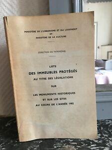 Lista Delle Edifici Protetti Législations Sul I Monumenti Storici 1982