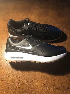 New Nike Air Max 1 G Spikeless Golf Shoes Black White Gum Aq0863 001 Mens 9 5 Ebay