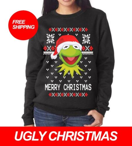 KERMIT THE FROG UGLY CHRISTMAS MEME SWEATER PARTY ALL SIZES FREE SHIPPING