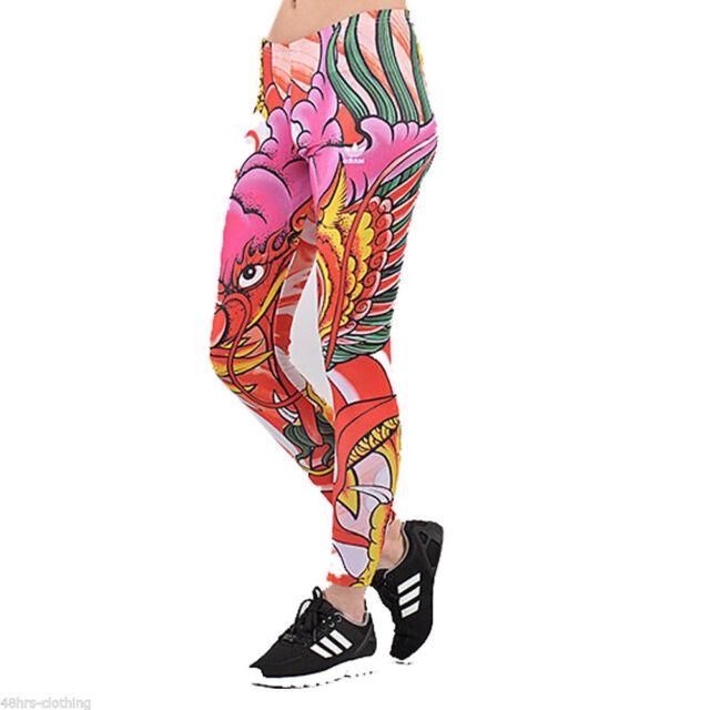 734e6529f3ec57 adidas Originals Rita Ora Dragon Print Leggings Pants Womens A96217 ...