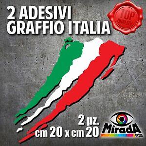 Adesivi-Sticker-GRAFFIO-ITALIA-ITALY-FLAG-BANDIERA-MOTO-AUTO-BICI-20x20-2-PZ