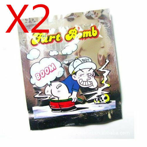 2X Stink Bomb Nasty Smelly Fart Bags Prank Joke Trick Party Filler Funny Gag P*C