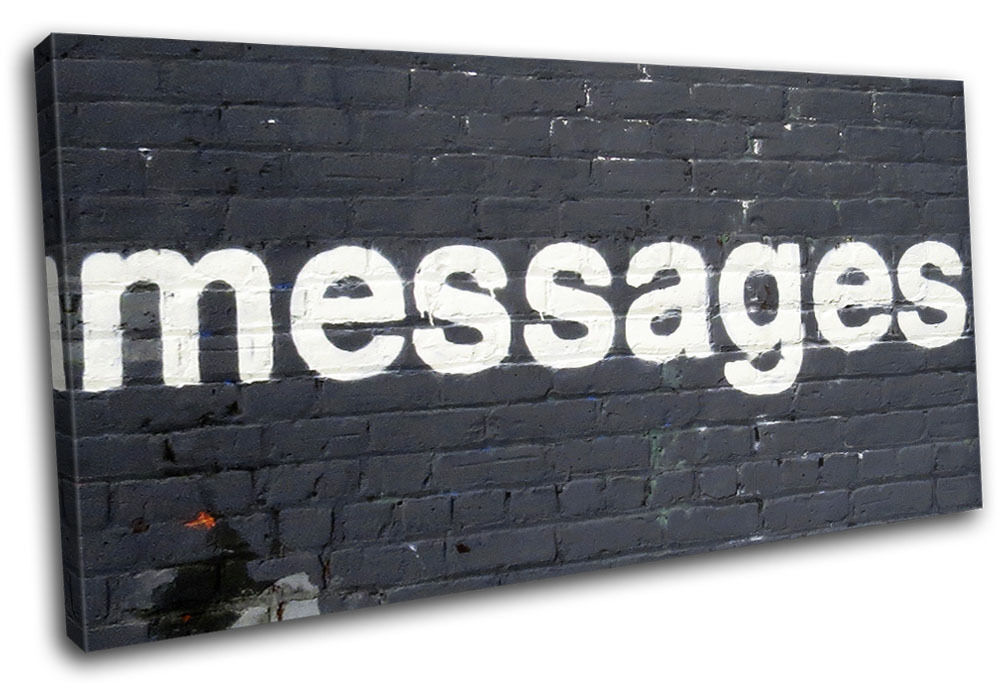 Graffiti Pop Messages Banksy Street SINGLE LONA pa rojo rojo rojo  arte Foto impresion da9978