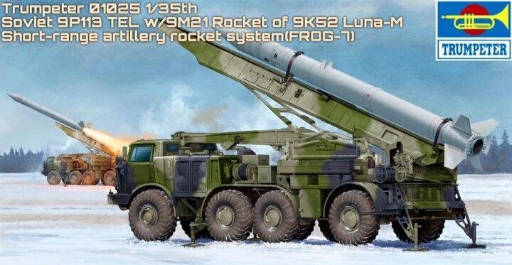 Camion Russe 9P113 TEL  lance-missile 9K52 LUNA-M - KIT TRUMPETER 1 35 n° 01025  Stade Cadeaux