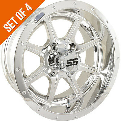 golf cart wheels tires collection on eBay!  Spoke Chrome Golf Cart Wheels on 10 chrome golf cart wheels, 14 black golf cart wheels, 14 chrome trailer wheels, media chrome golf cart wheels, ss112 chrome golf cart wheels, 14 chrome atv wheels, 14 chrome steel wheels,