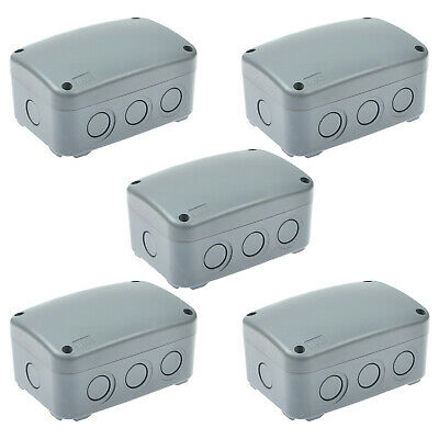 5 Pack IP66 Waterproof Weatherproof Junction Box Plastic Electric Enclosure Case
