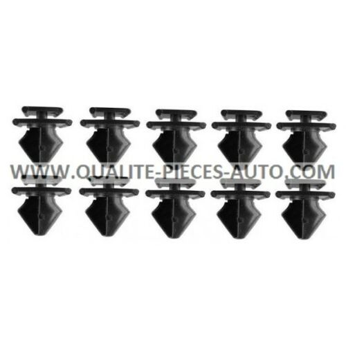 10x Clips de Garniture de Porte Peugeot